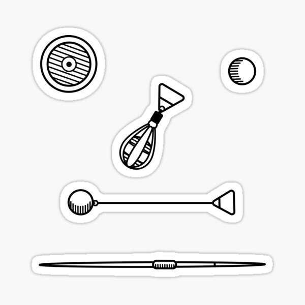 Throwing Implements Sticker Pack Sticker