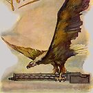 German eagle carrying a WWI airplane weapon by edsimoneit