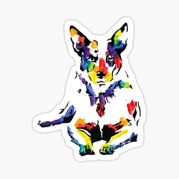 Blue the Australian Cattle Dog *dark Sticker