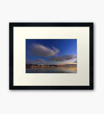 Matilda Bay At Dawn  Framed Print