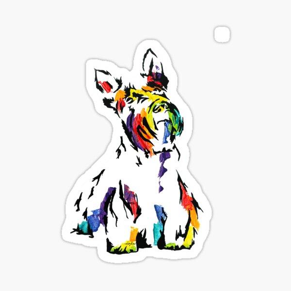 McDuff II the Scottish Terrier aka Scottie *dark Sticker