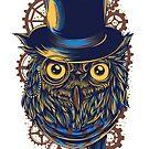 Clockwork Vintage Owl by NomadicMarket