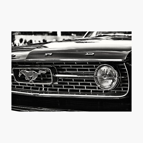 close up of Ford Mustang Photographic Print