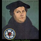 Martin Luther with Rose Symbol, 1533 by edsimoneit