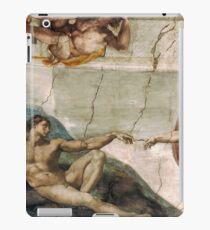 Creation of Adam by Michelangelo iPad Case/Skin