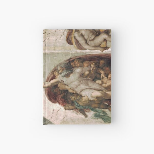 Creation of Adam by Michelangelo Hardcover Journal