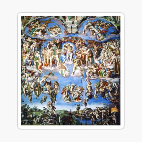 Michelangelo The Last Judgement Sticker