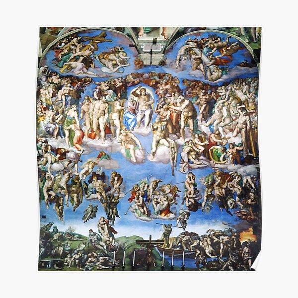 Michelangelo The Last Judgement Poster
