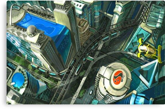 Ariel View - Utopian Concept by David Sourwine