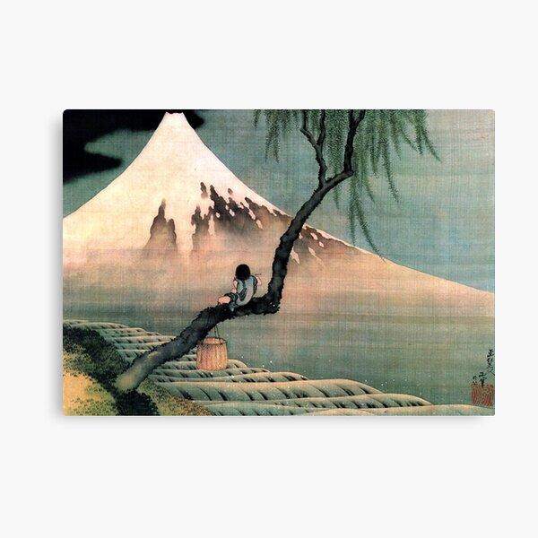 Boy on the Tree hokusai Canvas Print
