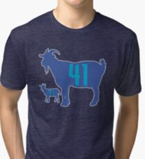 The GOAT - City Edition Dirk Nowitzki and Luka Doncic Tri-blend T-Shirt