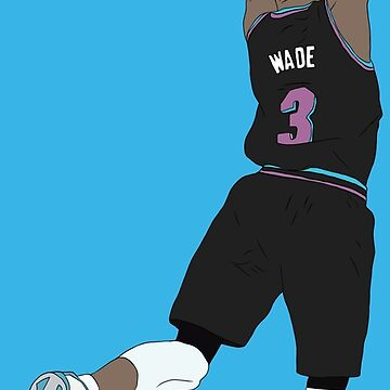Dwyane Wade Black Miami Vice by RatTrapTees