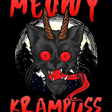 Creepy Holiday Meowy Krampuss Funny Christmas Krampus by ginzburgpress