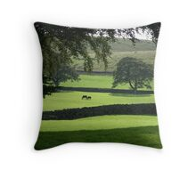 Horses in Wharfedale Throw Pillow