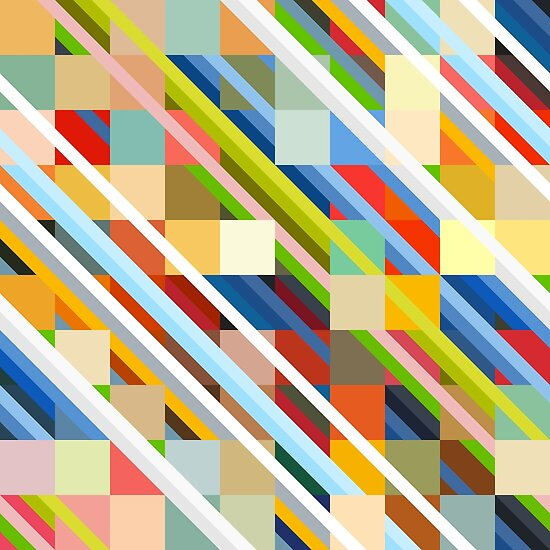 """Colorful Minimalist Design: """"Colorful Minimalist Design Radande"""" Posters By Retro"""