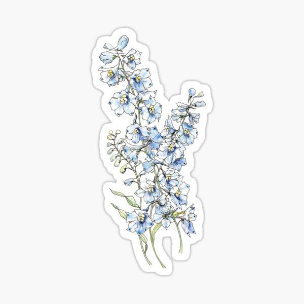 Blaue Delphiniumblumen Sticker