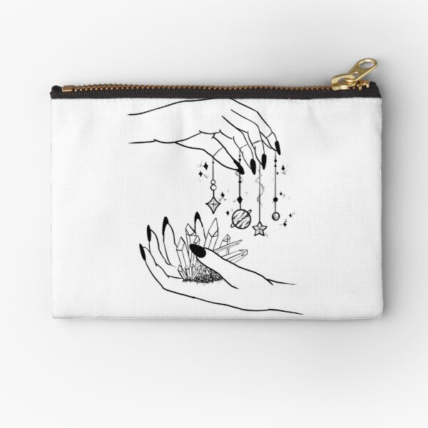 Witch pastel goth hands and galaxy planets  Zipper Pouch
