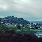 Stirling Castle as seen from train in valley Scotland 19840920 0040  by Fred Mitchell