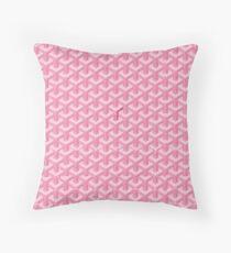 pink Goyards Throw Pillow