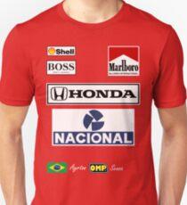 Ayrton Senna Racing Overalls Formula 1 'Sponsor' Shirt. Unisex T-Shirt