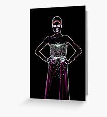 High Fashion Dress Fine Art Print Greeting Card
