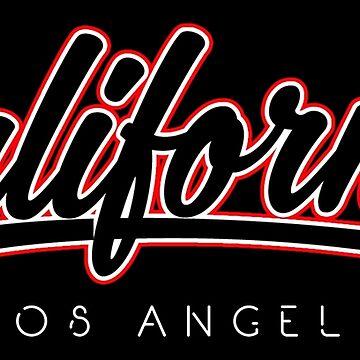 Los Angeles California Retro Typography by EddieBalevo