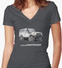 Toyota Troop Carrier Women's Fitted V-Neck T-Shirt