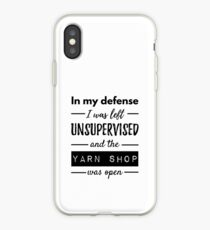 Funny Quotes About Knitting Life iPhone Case