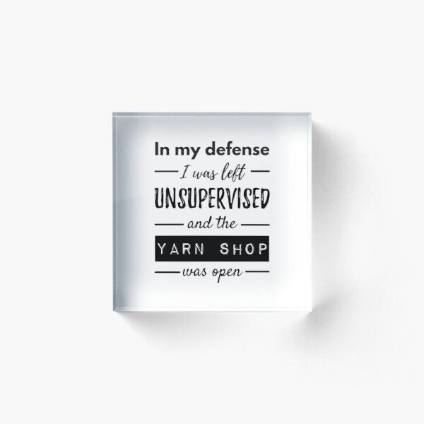 Funny Quotes About Knitting Life Acrylic Block