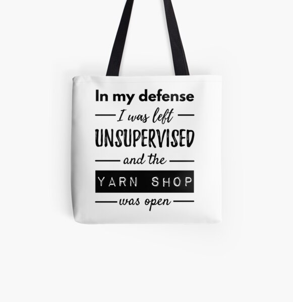 Funny Quotes About Knitting Life All Over Print Tote Bag
