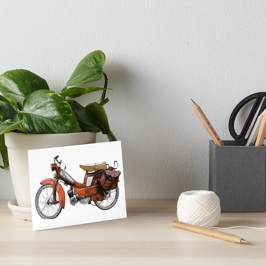 Vintage Französisch Motobecane Moped Galeriedruck