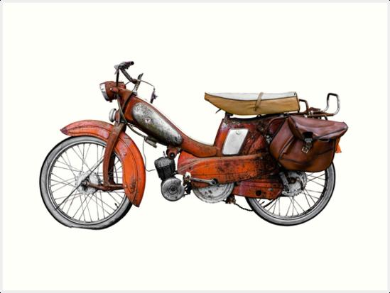 Vintage French Motobecane Moped by mrdoomits