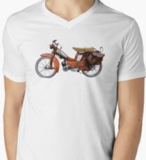 Vintage French Motobecane Moped V-Neck T-Shirt