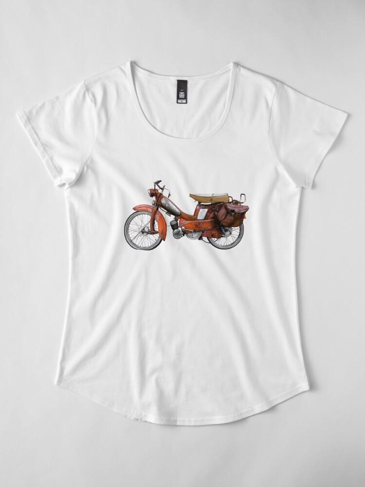 Alternative Ansicht von Vintage Französisch Motobecane Moped Premium Rundhals-Shirt