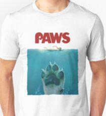 Funny Paws Jaws Dog Parody  Unisex T-Shirt
