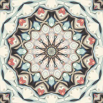 Earth Tones Mandala by perkinsdesigns