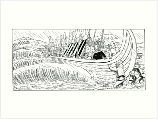 "VIKINGS ""walk on the water"" by CLAUDIO COSTA"
