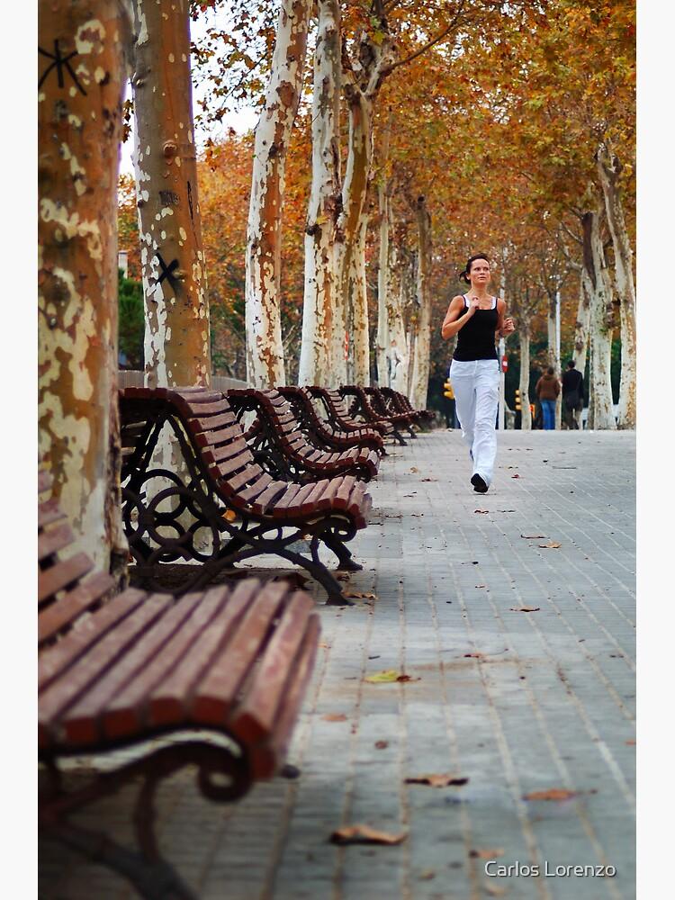 Girl Jogging in Barcelona Park by carloslorenzo