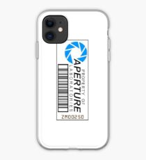 Aperture science barcode iPhone Case