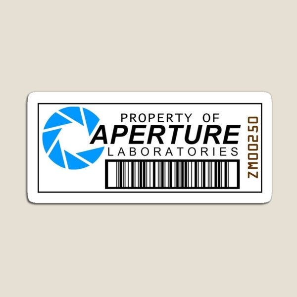 Aperture Science Barcode Magnet