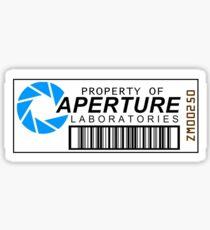 Aperture science barcode Sticker