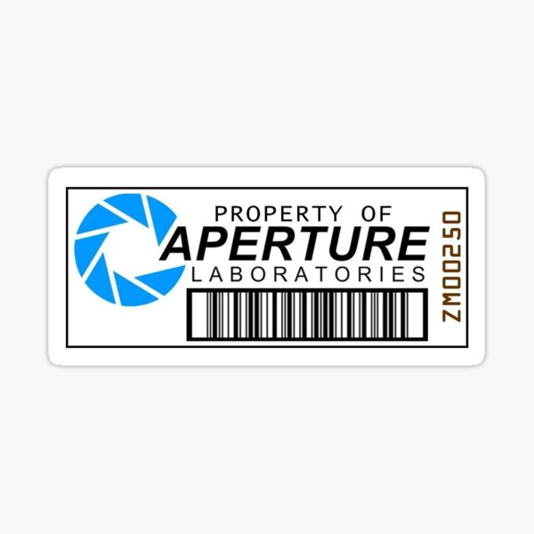 Aperture science barcode Sticker