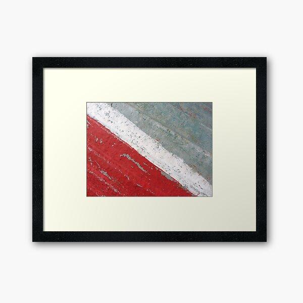 Diagonal Framed Art Print