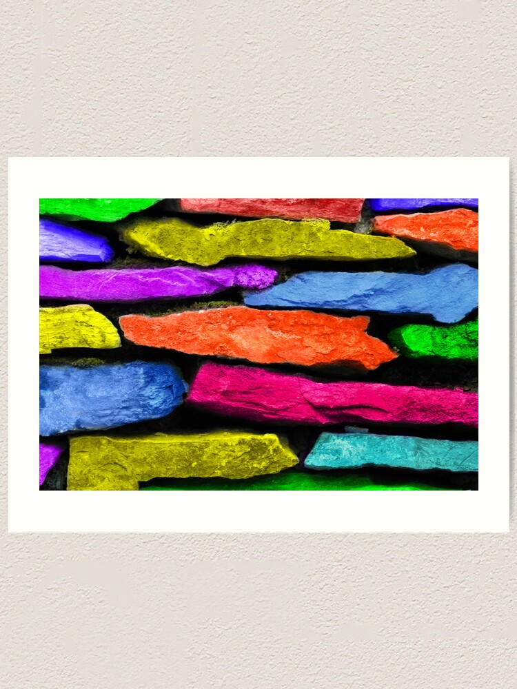 Alternate view of Colored Wall Art Print
