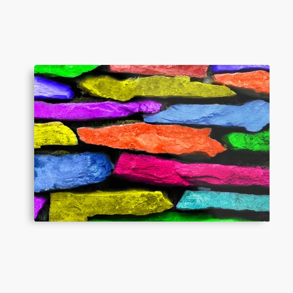 Colored Wall Metal Print