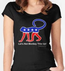 Let's Not Monkey This Up! Women's Fitted Scoop T-Shirt