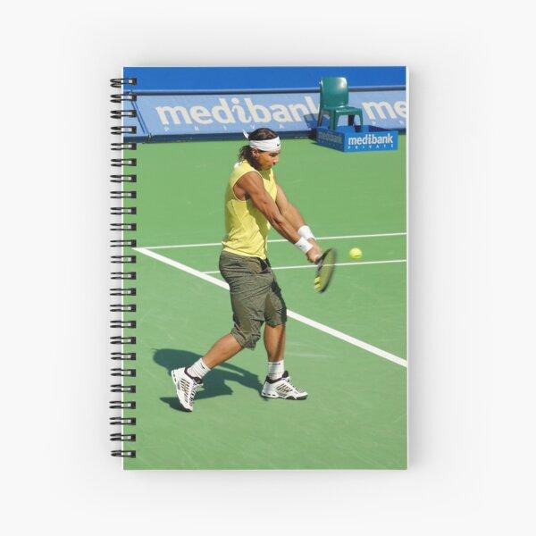 Backhand (Rafael Nadal) Spiral Notebook