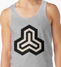 Geometric Pattern: Y Outline: Black/Cream Tank Top