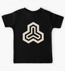 Geometric Pattern: Y Outline: Cream/Black Kids Tee