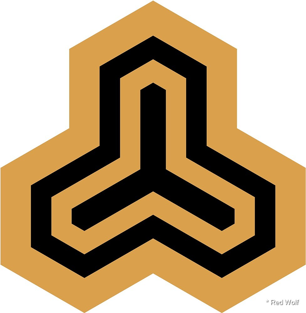 Geometric Pattern: Y Outline: Gold/Black by * Red Wolf